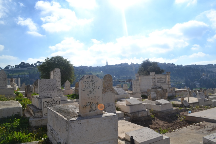 Mamilla Cemetery near the walls of Old City Jerusalem